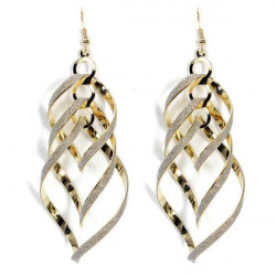 Spiral Multilayer Big Cross Frosted Drop Earrings For Women
