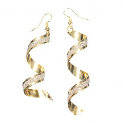 Spiral Twist Frosted Long Dangle Drop Earrings For Women