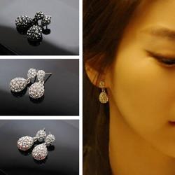 Sweet Multicolor Crystal Rhinestone Ball Drop Earrings Women Jewelry