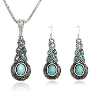 Tibetan Silver Pendant Earrings