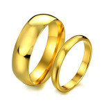 Valentines Stainless Steel Plain Couple Wedding Rings Engagement Women Jewelry