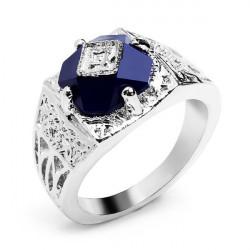 Vampire Diary Caroline Ring Vintage Blue Crystal Finger Ring For Women