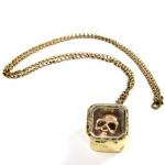 Vintage Bronze Skull Head Case Pendant Chain Necklace Jewelry Women Jewelry