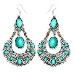 Vintage Crystal Acrylic Hollowed Dangle Earrings For Women