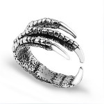 Vintage Silver Eagle Claw Opening Finger Ring Masters Sun Hyojin Kong Women Jewelry