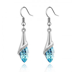 Water Drop Crystal Rhinestone Dangle Earrings For Women