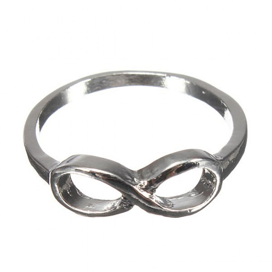 Women Gold Silver Plated Infinity Bowknot Rhinestone Finger Ring