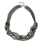 Women Rhinestone Alloy Silver Statement Collar Necklace Jewelry Women Jewelry