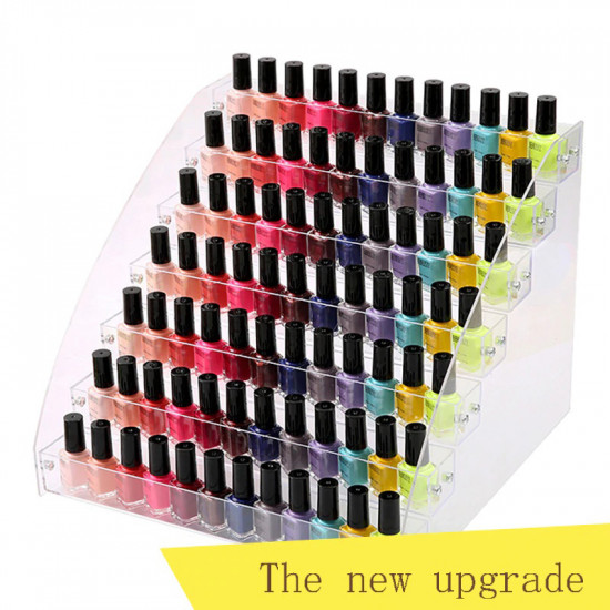 3-7 Tiers Acrylic Nail Polish Display Stand Cosmetic Container 2021