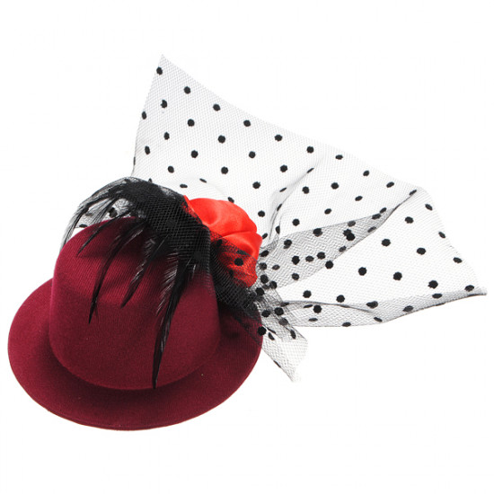 Mini Hat Girl's Feather Hair Ornament Wig Accessories 2021