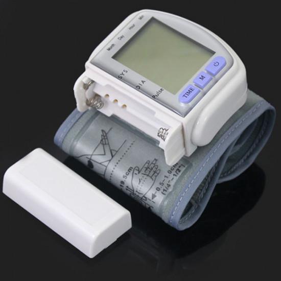LCD Digital Sphygmomanometer Blood Pressure Monitor Heart Beat Meter 2021