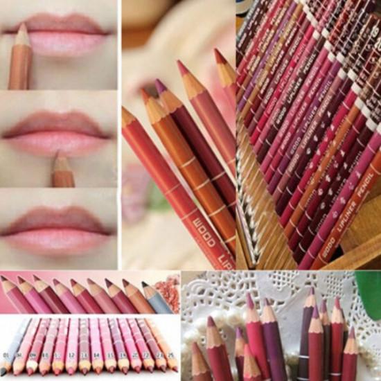 12 Colors Lip Liner Set 15cm Long Lasting Makeup Pencil 2021