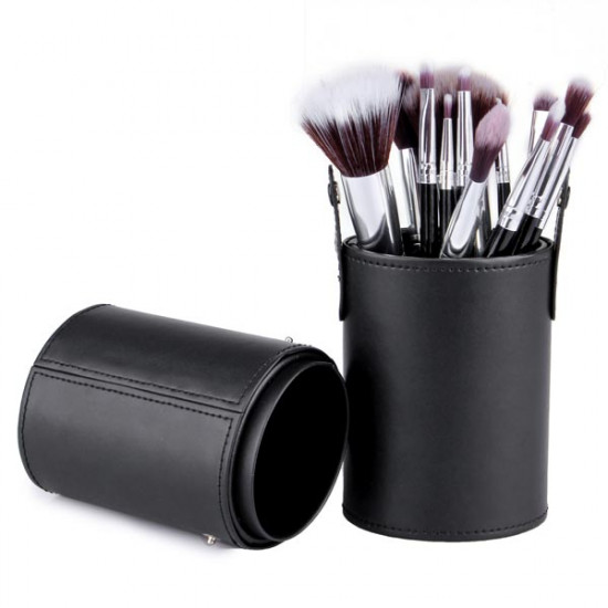 12 Pcs Cosmetic Brushes Set Cup Holder Makeup Tools 2021