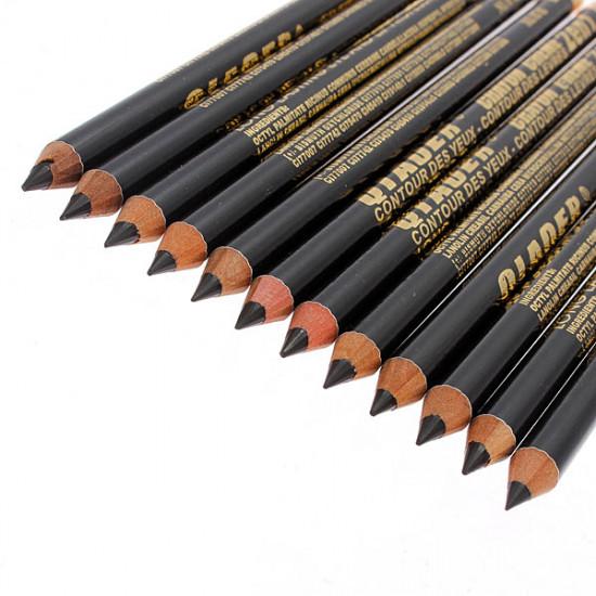 12pcs Black Makeup Cosmetic Eyeliner Eyebrow Pencil Waterproof 2021