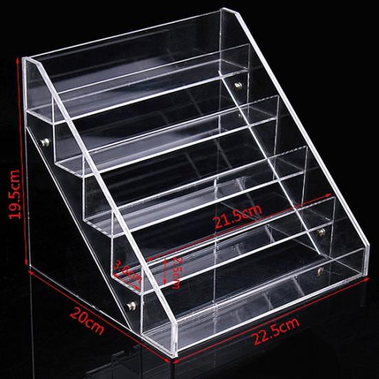 22.5 CM 5 Tiers Acrylic Nail Polish Display Stand Cosmetic Organizer 2021