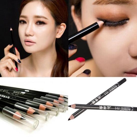 2Pcs Black Smooth Eyeliner Pencil Long Lasting Makeup Tool 2021