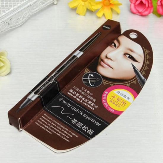 2 Way Smoothing Waterproof Liquid Eyeliner Pencil Cosmetic Makeup Pen 2021