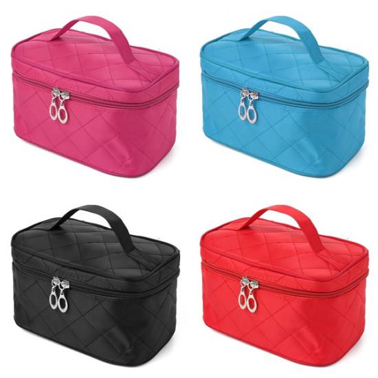 4 Colors Portable Makeup Cosmetic Case Storage Handbag Travel Bag 2021