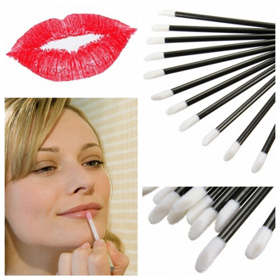 50Pcs Disposable Lip Lipstick Gloss Wands Brush 2021