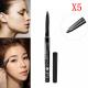 5pcs Waterproof Automatic Eyeliner Pen Long Lasting Eyebrow Pencil 2021