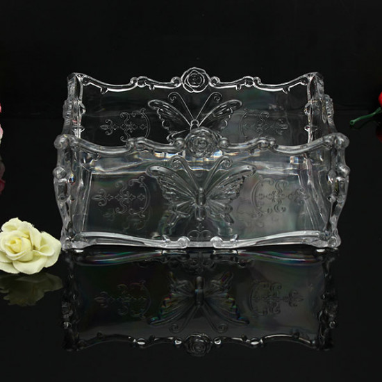 Acrylic Butterfly Cosmetic Makeup Case Storage Holder Organizer 2021