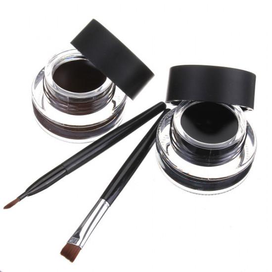 Black Brown Waterproof Eyeliner Cream Gel Eyes Makeup 2021