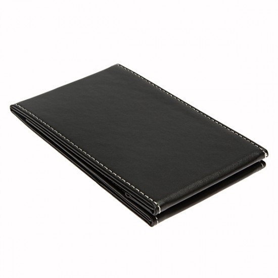 Foldable Black Leather Compact Makeup Desktop Mirror 2021