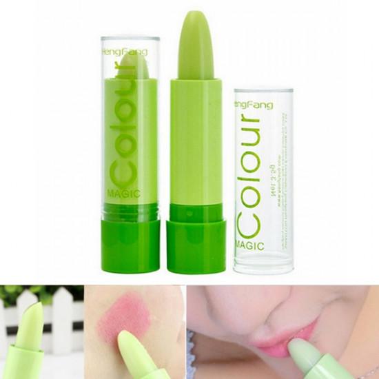 Magic Green Color Changing Lip Makeup Long Lasting Lipstick Cosmetic 2021