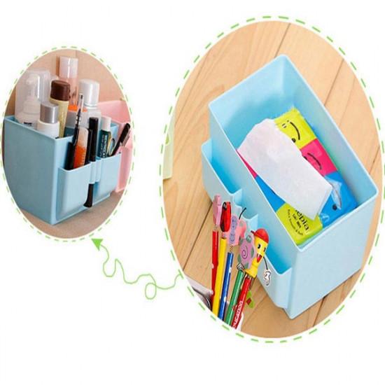Multi-Space Waterproof  Cosmetic Storage Rack Box Plastic Container 2021