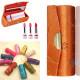 Retro Brocade Embroidered Flower Design Lipstick Case Holder 2021