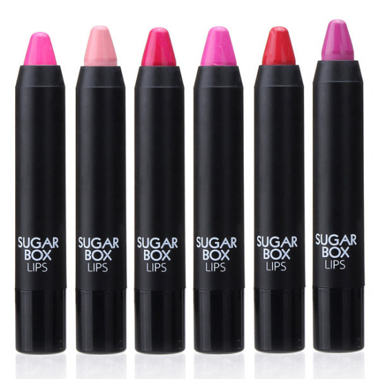 Sugarbox Lipstick Crayon Pen Vitamin E Lip Tint Makeup Cosmetics 2021