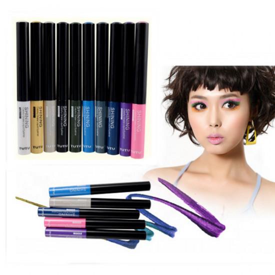 TUTU Makeup Waterproof Glitter Shiny Liquid Eyeliner 10 Color 2021