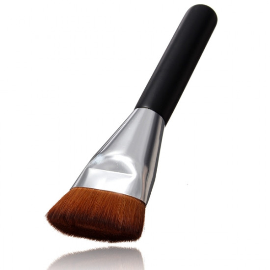 Wooden Handle Multi-Function Blush Flat Makeup Powder Foundation Brush 2021