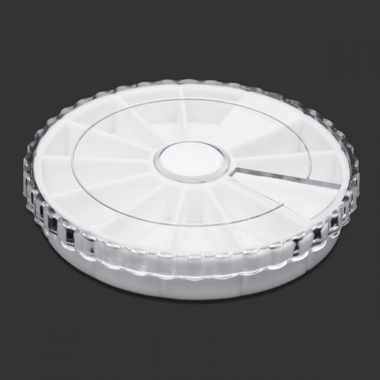 10X Nail Art Empty Rhinestones Glitter Case Box Round Wheel 2021