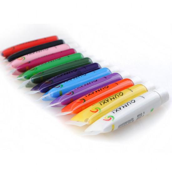 12 Colors Acrylic 3D Paint Nail Art Painting Pigment Tips Set 2021