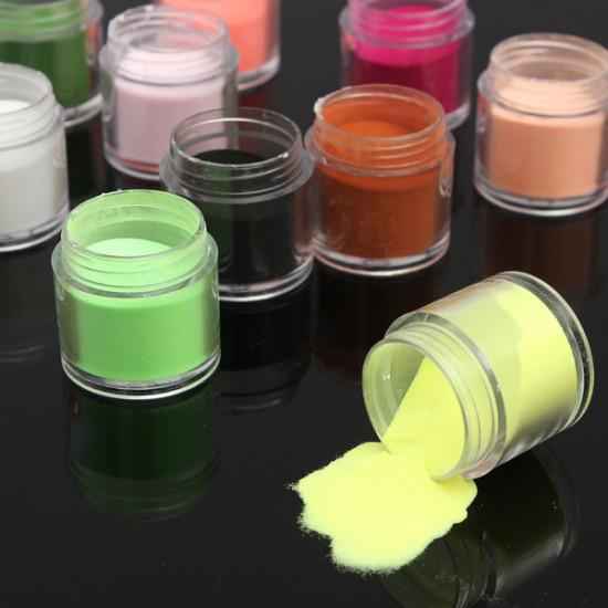12 Colors Acrylic Manicure Nail Art Powder Dust Decoration 2021