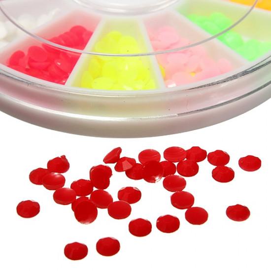 12 Colors Half Round Nail Art Acrylic Decoration Wheel 2021