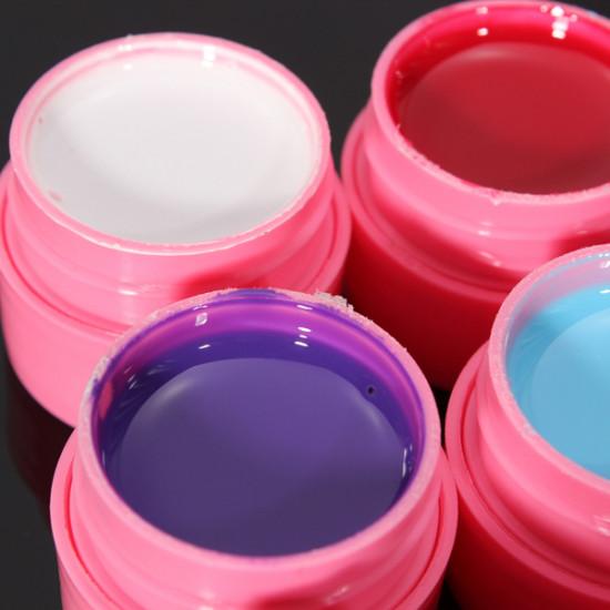 12 Colors Mix Pure Acrylic Nail Art Manicures UV Gel Builder Set 2021