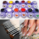 12 Colors Phototherapy Nail Drawing Gel 12 Painting Brushes Set 2021