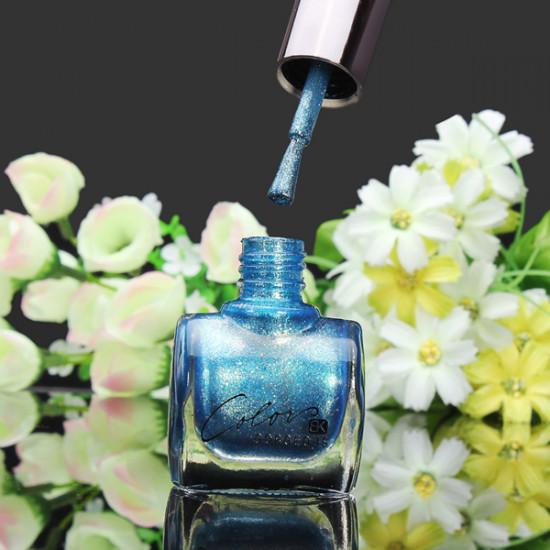 12ML Metal Color Blue Nail Art Varnish Polish Nail Enamel 2021