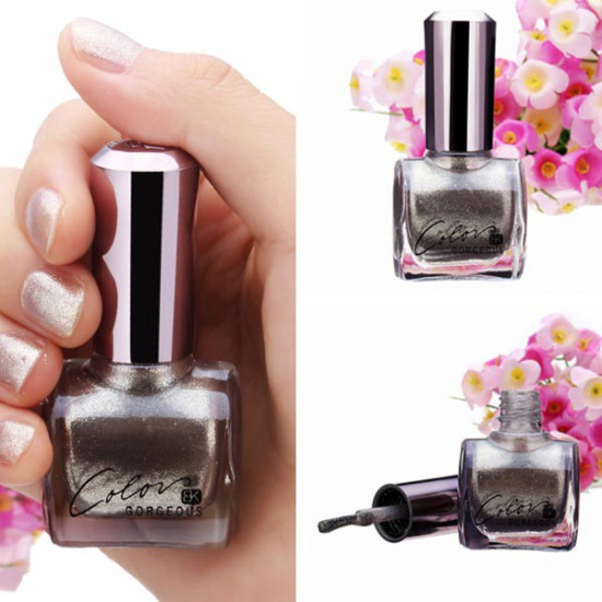 12ML Metal Color Silver Nail Art Varnish Polish Nail Enamel 2021