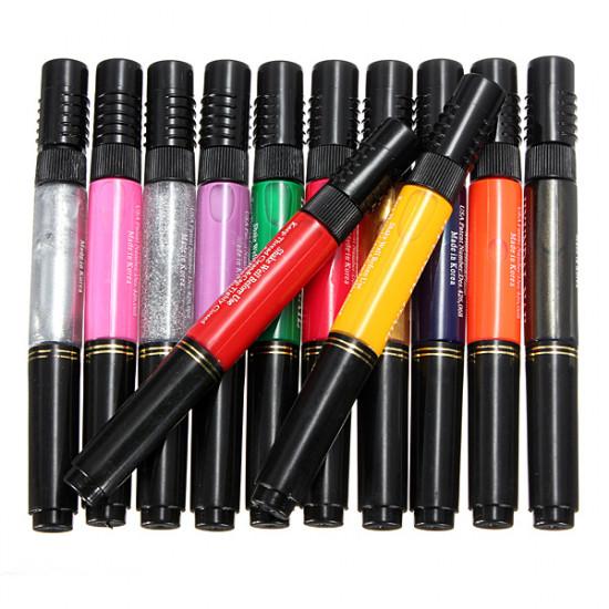 12 or 24PCS Mix Colors Nail Art Varnish Polish Brush Pen Set Kit 2021