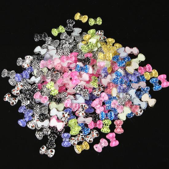 20Pcs 3D Bowknot Bow tie Acrylic Nail Art Decoration 2mm 2021