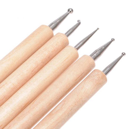 20pcs Nail Art Design Dotting Painting Pen Brush Set Faux Leather Case 2021