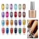 24 Colors Soak off Metal Color UV Gel Nail Polish 2021