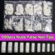 500 Nude Artificial False Acrylic Gel Nail Art Half Tip 2021