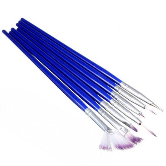 7Pcs Nail Art Design Painting Brush Dotting Drawing Pen Tool Set 2021