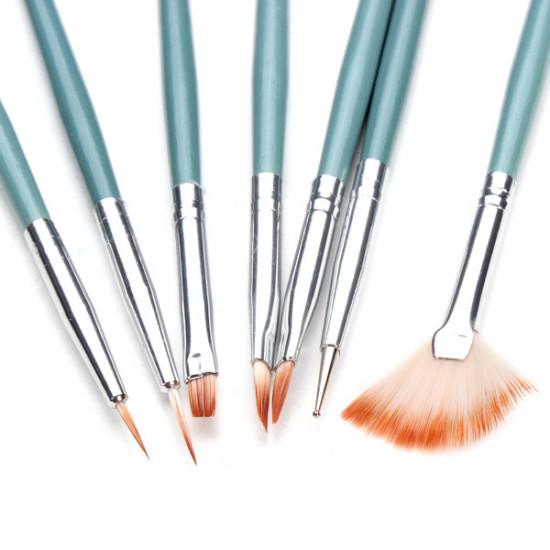 7pcs Acrylic Nail Art Painting Brush Set 2021