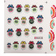 BLE Colorful Butterfly Flower Water Transfer Nail Art Stickers 2021