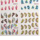 BLE Colorful Flower Water-Drop Water Transfer Nail Art Stickers 2021